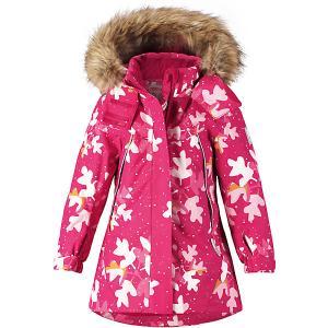 Утеплённая куртка  Muhvi Reima. Цвет: розовый/белый