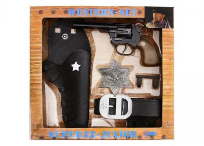 Набор Дикий Запад с игрушечным пистолетом Super 88 Schrodel