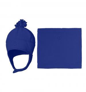 Комплект шапка/шарф-снуд , цвет: синий Premont