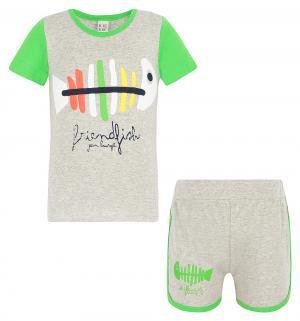 Комплект футболка/шорты , цвет: зеленый Bony Kids