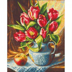 Картина по номерам Букет Тюльпанов 24х30 см Schipper