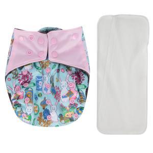 Подгузник  Premium Fashion + 1 вкладыш Розовый/Бирюзовый/ Зайки (3-16 кг) шт. Bamboola