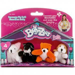 Мини-плюш в наборе Мышка, Котик, Медведь, Песик, Beanzeez