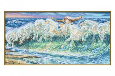 Картина по номерам Репродукция Лошади Нептуна Вольтер Крейн 40х80 см Schipper