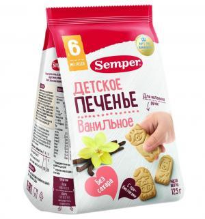 Печенье  Bio natur Фигурки Ферма ванильное, 125 г, 1 шт Semper