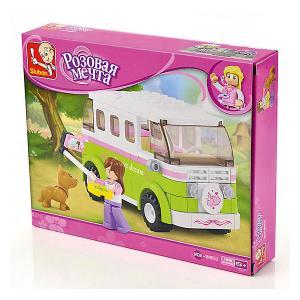 Конструктор  Розовая мечта: Микроавтобус, 158 деталей Sluban. Цвет: разноцветный