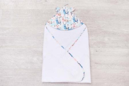 Полотенце с уголком Cute Love Ламы AmaroBaby