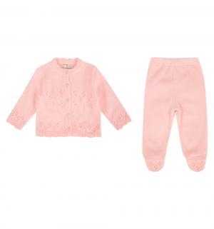 Комплект кофта/ползунки  Милашка, цвет: розовый Уси-Пуси