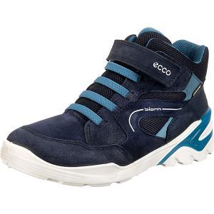 Утеплённые ботинки ECCO. Цвет: синий