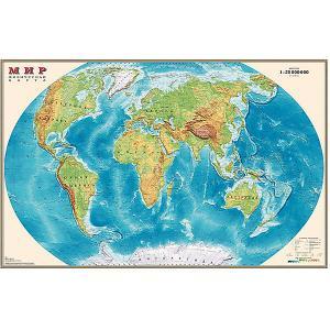 Карта Мира, Физическая, 1:25М Издательство Ди Эм Би