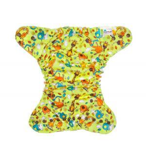 Подгузник  Optima Жирафы + 2 вкладыша (3-18 кг) 1 шт. GlorYes