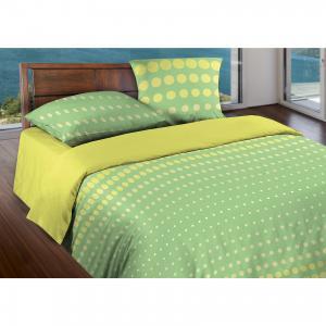 Постельное белье Евро Dot Green, БИО Комфорт, WENGE Motion