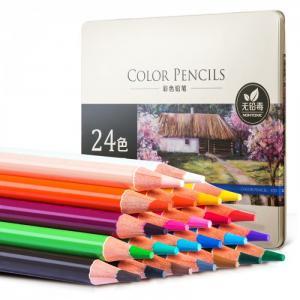 Карандаши цветные акварельные 24 цвета Deli