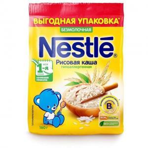 Каша  безмолочная Рисовая Моя 1-ая Каша.Начинаем прикорм с 4 месяцев 160 г Nestle