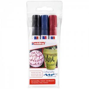Набор маркеров для каллиграфии 1-5 мм 3 цвета Edding