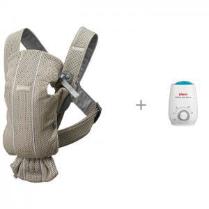 Рюкзак-кенгуру  Mini Mesh с подогревателем бутылочек и детского питания Pigeon BabyBjorn