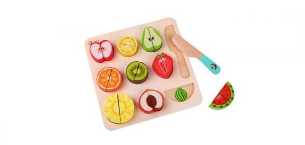 Деревянная игрушка  классический конструктор-пазл в виде фруктов Пастель Classic World