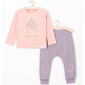 Комплект для девочек (лонгслив, брюки) 6P3901 5.10.15