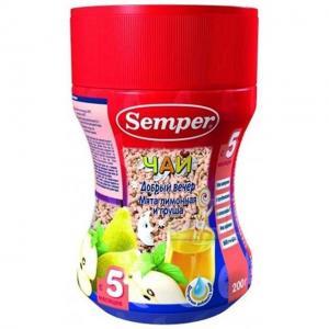 Чай  Добрый вечер мята лимонная-груша, 200 г Semper