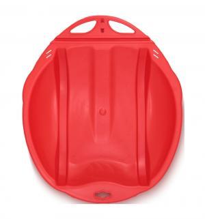 Санки-ледянки Веселый паровозик, цвет: красный
