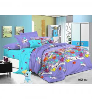 Комплект постельного белья , цвет: фиолетовый Cleo