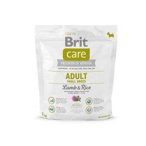 Сухой корм  Care для взрослых собак мелких пород, ягненок/рис, 1кг Brit