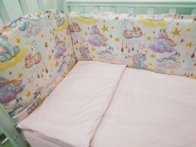 Комплект в кроватку  Единорожки (6 предметов) Сонная сказка