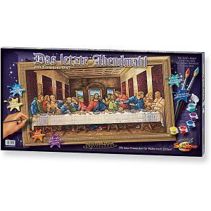 Картина по номерам  Леонардо да Винчи «Тайная вечеря», 40х80 см Schipper. Цвет: разноцветный