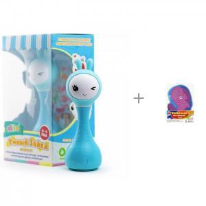 Интерактивная игрушка  Умный зайка R1 с распознаванием цветов и пазл-раскраска Фантазёр Alilo