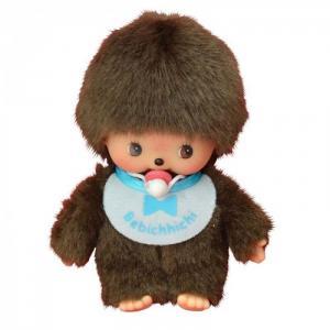 Мягкая игрушка  Мальчик в слюнявчике 15 см Monchhichi