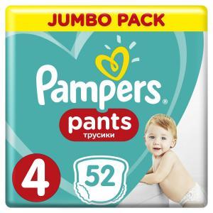 Трусики  Pants 4 размер (9-15 кг) 52 шт. Pampers