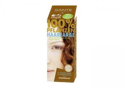 Растительная краска для волос Коричневый ореховый 100 г Sante