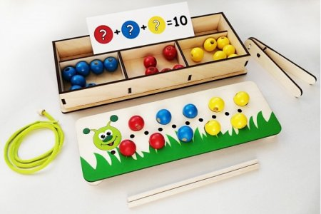 Развивающая игрушка  Игровой набор Собери гусеницу (35 элементов) Крона