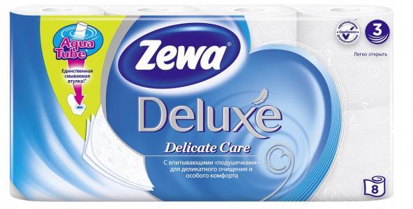 Туалетная бумага для ежедневной гигиены  Delux, 8 шт Zewa