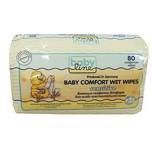 Влажные салфетки  комфорт Sensitive, 80 шт Baby Line