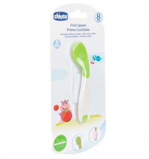 Ложка  для кормления цвет: зеленый полипропилен Chicco
