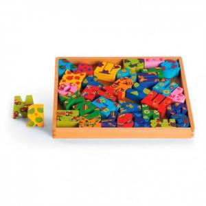 Деревянная игрушка  Азбука Папа Карло