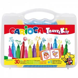 Набор для рисования 30 фломастеров и раскраска Carioca