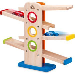 Игровой набор Wonder world Деревянная игрушка со съезжающими машинками Haba