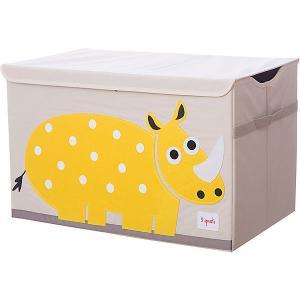 Сундук для хранения игрушек  Жёлтый носорог 3 Sprouts. Цвет: желтый