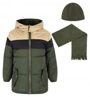 Куртка куртка/шапка/шарф , цвет: зеленый/черный iXTREME by Broadway kids