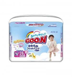 Подгузники-трусики  XXL для девочек (13-25 кг) 28 шт. Goon