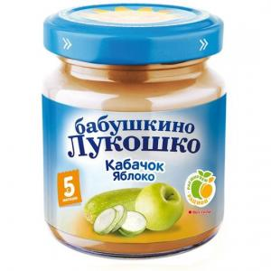 Пюре  кабачок-яблоко с 5 месяцев, 100 г Бабушкино лукошко
