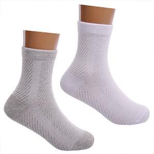Носки , 2 пары Lansa. Цвет: белый/серый