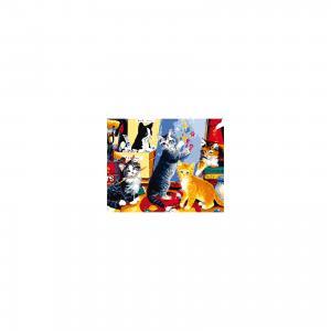 Холст с красками по номерам Игривые котята 40х50 см Издательство Рыжий кот