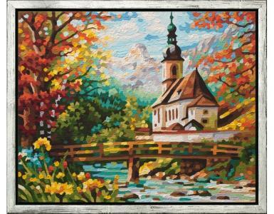Картина по номерам  Церковь Себастьяна в Рамзау 40х50 см Schipper