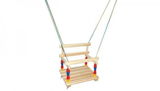 Качели  деревянные подвесные Д172053 R-Toys