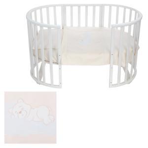 Комплект постельного белья  Мишка на облаках, цвет: белый Leader Kids