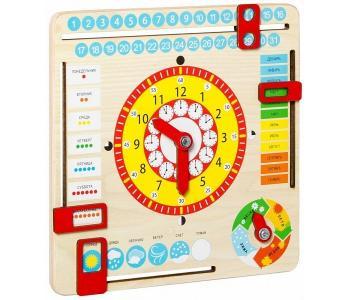 Развивающая игрушка  Часы и календарь Dream makers