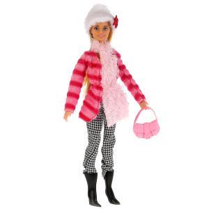 , Кукла София в полосатой куртке и шапке, с аксесс., 29см Карапуз